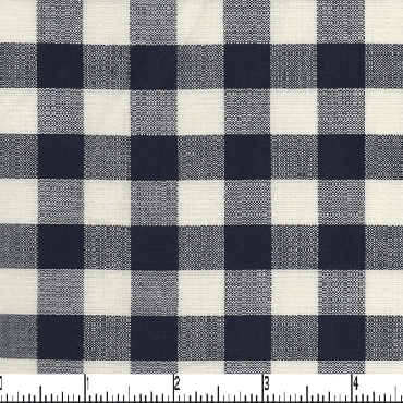Navy and White Check