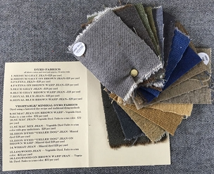 Dyed Colors Woolen Jean Cloth Swatch Packet