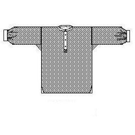 Men's Shirt on the Square Pattern