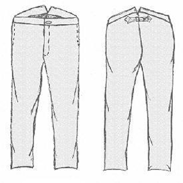 Galla Rock Side Seam Pocket Civilian/Confederate Trouser Pattern